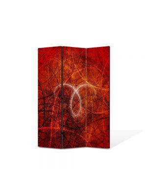 Paravan de Camera ArtDeco din 3 Panouri Abstract Decorativ Taur 105 x 150 cm