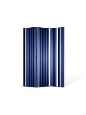 Paravan de Camera ArtDeco din 3 Panouri Abstract Decorativ Dungi verticale 105 x 150 cm