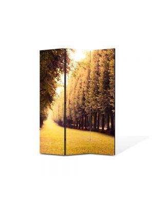 Paravan de Camera ArtDeco din 3 Panouri Peisaj Drum pavat 105 x 150 cm