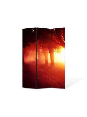 Paravan de Camera ArtDeco din 3 Panouri Peisaj Lumina fantastica 105 x 150 cm