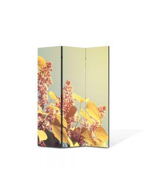 Paravan de Camera ArtDeco din 3 Panouri Peisaj Lilieci 105 x 150 cm