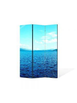 Paravan de Camera ArtDeco din 3 Panouri Peisaj Lac infinit 105 x 150 cm