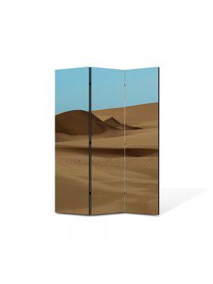 Paravan de Camera ArtDeco din 3 Panouri Peisaj Desert 105 x 150 cm