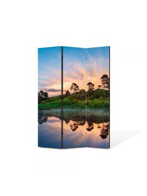 Paravan de Camera ArtDeco din 3 Panouri Peisaj Olginda perfecta 105 x 150 cm