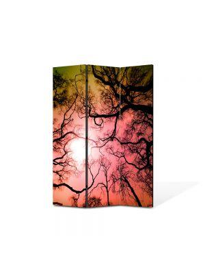 Paravan de Camera ArtDeco din 3 Panouri Peisaj Crengute 105 x 150 cm