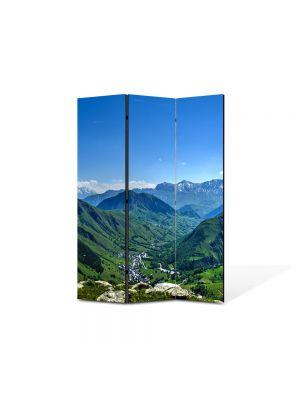 Paravan de Camera ArtDeco din 3 Panouri Peisaj Venezuela 105 x 150 cm