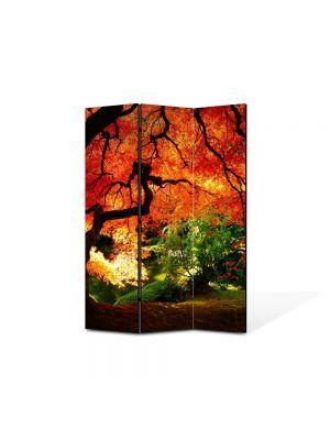 Paravan de Camera ArtDeco din 3 Panouri Peisaj Suprearealist 2 105 x 150 cm