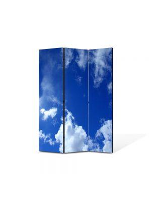 Paravan de Camera ArtDeco din 3 Panouri Peisaj Cer 105 x 150 cm