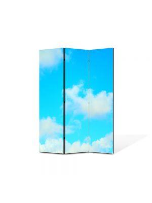 Paravan de Camera ArtDeco din 3 Panouri Peisaj Nori usori 105 x 150 cm