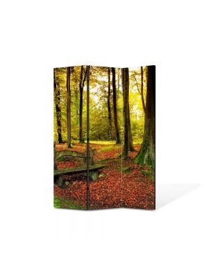 Paravan de Camera ArtDeco din 3 Panouri Peisaj Covor rosiatic 105 x 150 cm