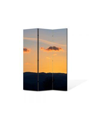 Paravan de Camera ArtDeco din 3 Panouri Peisajrse de nori 105 x 150 cm