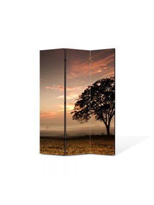 Paravan de Camera ArtDeco din 3 Panouri Peisaj Coroana de copac 105 x 150 cm