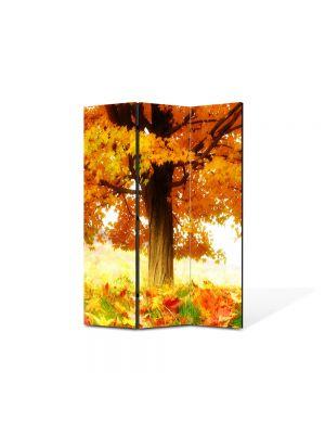 Paravan de Camera ArtDeco din 3 Panouri Peisaj La umbra copacului 105 x 150 cm