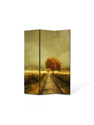 Paravan de Camera ArtDeco din 3 Panouri Peisaj Pictura contemporana 105 x 150 cm