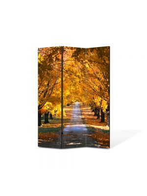 Paravan de Camera ArtDeco din 3 Panouri Peisaj Sosea in valuri 105 x 150 cm