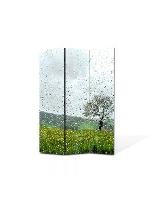 Paravan de Camera ArtDeco din 3 Panouri Peisaj Plouat 105 x 150 cm