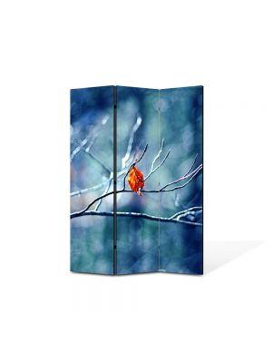 Paravan de Camera ArtDeco din 3 Panouri Peisaj Vine iarna! 105 x 150 cm
