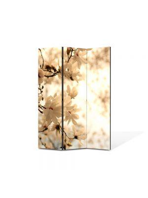 Paravan de Camera ArtDeco din 3 Panouri Peisaj Sepia 105 x 150 cm