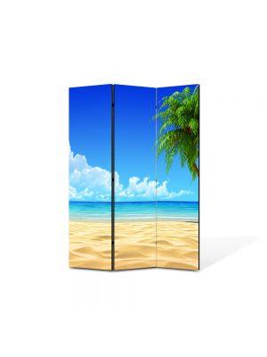 Paravan de Camera ArtDeco din 3 Panouri Peisaj Infinit 105 x 150 cm