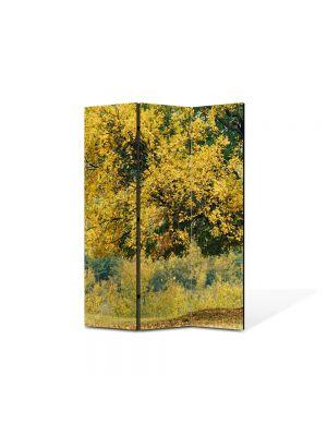 Paravan de Camera ArtDeco din 3 Panouri Peisaj Copac batran 105 x 150 cm