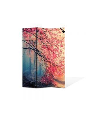 Paravan de Camera ArtDeco din 3 Panouri Peisaj Rece, cald 105 x 150 cm
