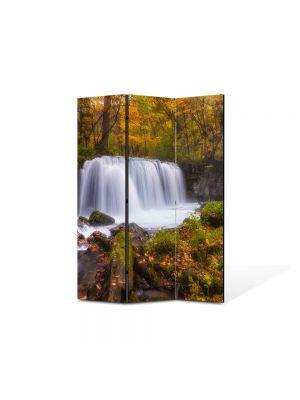 Paravan de Camera ArtDeco din 3 Panouri Peisaj Cascada zgomotoasa 105 x 150 cm