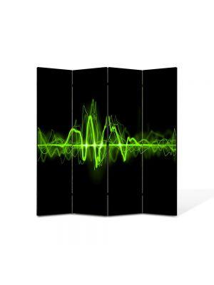 Paravan de Camera ArtDeco din 4 Panouri Abstract Decorativ Sunet 140 x 150 cm