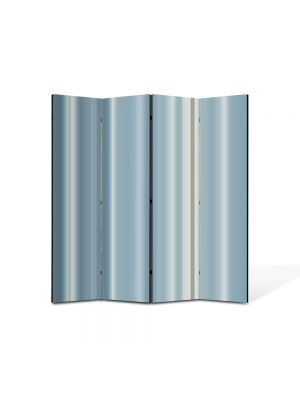 Paravan de Camera ArtDeco din 4 Panouri Abstract Decorativ Gri 140 x 150 cm