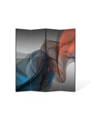 Paravan de Camera ArtDeco din 4 Panouri Abstract Decorativ Forme fine 140 x 150 cm