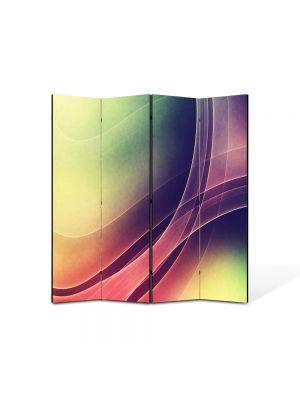 Paravan de Camera ArtDeco din 4 Panouri Abstract Decorativ Raze intrepatrunse 140 x 150 cm