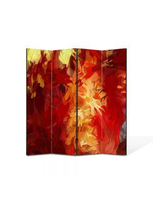 Paravan de Camera ArtDeco din 4 Panouri Abstract Decorativ Culori scurse 140 x 150 cm