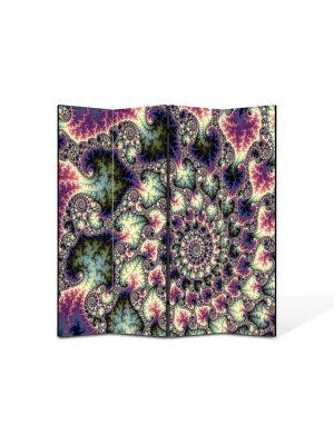 Paravan de Camera ArtDeco din 4 Panouri Abstract Decorativ Perle 140 x 150 cm