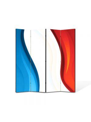 Paravan de Camera ArtDeco din 4 Panouri Abstract Decorativ Franta 140 x 150 cm