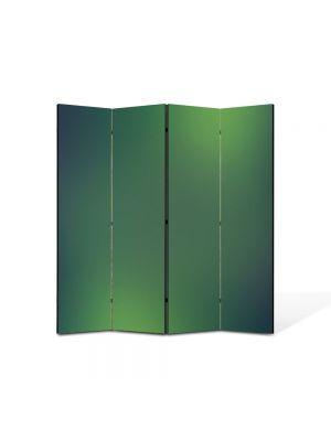 Paravan de Camera ArtDeco din 4 Panouri Abstract Decorativ Lumini verzi 140 x 150 cm