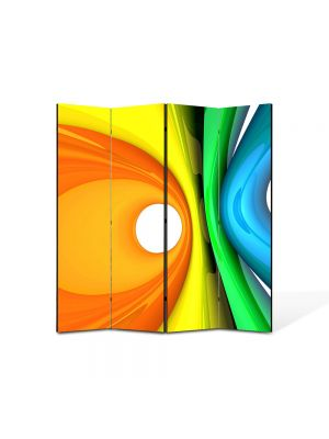 Paravan de Camera ArtDeco din 4 Panouri Abstract Decorativ Forme de plastic 140 x 150 cm