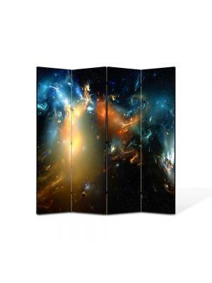 Paravan de Camera ArtDeco din 4 Panouri Abstract Decorativ Distopie 140 x 150 cm