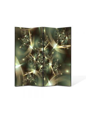 Paravan de Camera ArtDeco din 4 Panouri Abstract Decorativ Spatiu deformat 140 x 150 cm