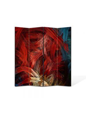 Paravan de Camera ArtDeco din 4 Panouri Abstract Decorativ Noduri stilizate 140 x 150 cm