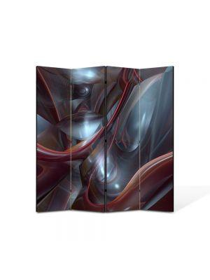 Paravan de Camera ArtDeco din 4 Panouri Abstract Decorativ Plasma 140 x 150 cm
