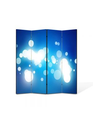 Paravan de Camera ArtDeco din 4 Panouri Abstract Decorativ Pete de lumina 140 x 150 cm