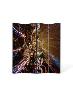 Paravan de Camera ArtDeco din 4 Panouri Abstract Decorativ Spre alta galaxie 140 x 150 cm
