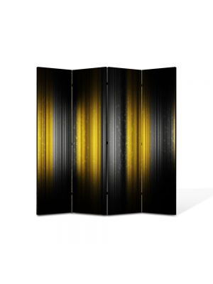Paravan de Camera ArtDeco din 4 Panouri Abstract Decorativ Rama 140 x 150 cm