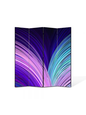 Paravan de Camera ArtDeco din 4 Panouri Abstract Decorativ Carte abstracta 140 x 150 cm