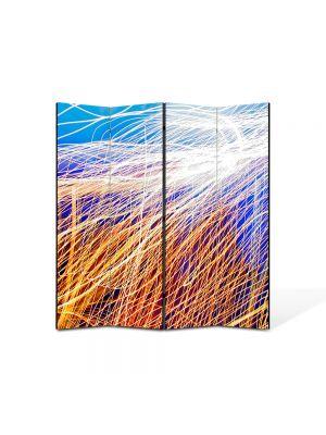 Paravan de Camera ArtDeco din 4 Panouri Abstract Decorativ Plasa de lumina 140 x 150 cm