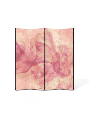 Paravan de Camera ArtDeco din 4 Panouri Abstract Decorativ Fum roz 140 x 150 cm