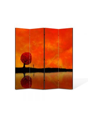 Paravan de Camera ArtDeco din 4 Panouri Abstract Decorativ Amurg 140 x 150 cm