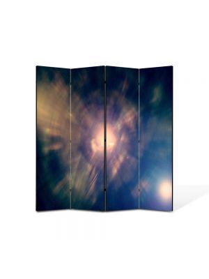 Paravan de Camera ArtDeco din 4 Panouri Abstract Decorativ Centrul Universului 140 x 150 cm
