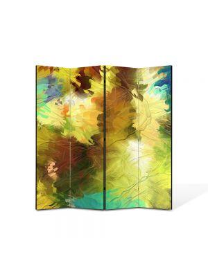 Paravan de Camera ArtDeco din 4 Panouri Abstract Decorativ Dungi de pensula 140 x 150 cm