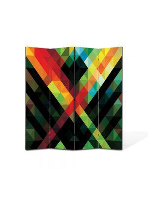 Paravan de Camera ArtDeco din 4 Panouri Abstract Decorativ Amalgam 140 x 150 cm