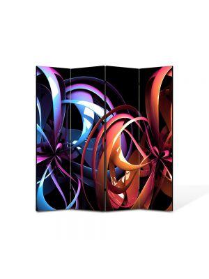 Paravan de Camera ArtDeco din 4 Panouri Abstract Decorativ Carusel de culori 140 x 150 cm